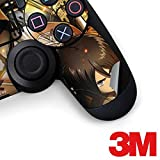 Skinit Attack On Titan PS4 Controller Skin - Eren Mikasa And Armin Design - Ultra Thin, Lightweight Vinyl Decal Protection