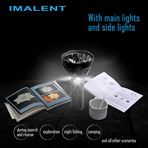 IMALENT MS12 Brightest Flashlight 53000 Lumens, Super Bright Rechargeable Torch Searchlight with 12 Pieces CREE XHP70 LEDs, Built in Cooling Fan, Long Beam Distance 913 Meters by IMALENT (Image #6)