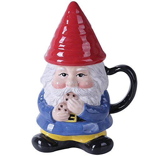Ceramic Cute Gnome Lidded Mug product image