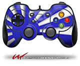 Rising Sun Japanese Flag Blue - Decal Style Skin fits Logitech F310 Gamepad Controller (CONTROLLER SOLD SEPARATELY)