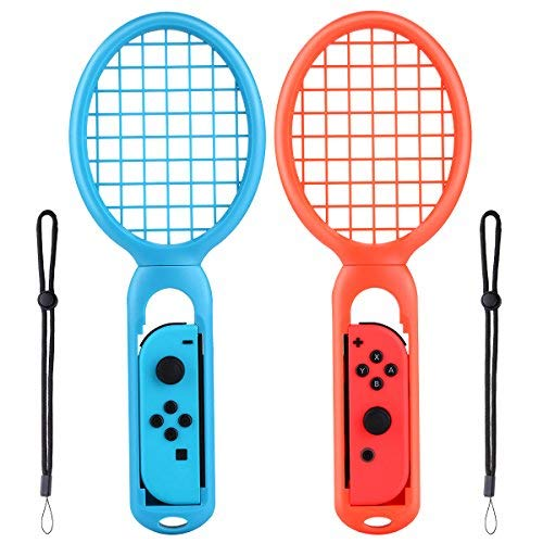 Price comparison product image Tennis Racket for Nintendo Switch Joy-Con Controller Twin Pack Grips for N-Switch Game Mario Tennis Aces Left & Right One Pair