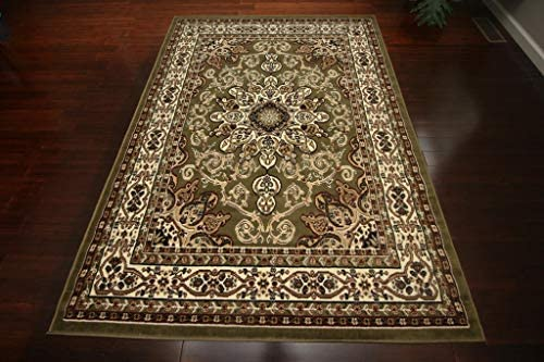 Generations New Oriental Traditional Isfahan Persian Area Rug Rugs Sage Green 8023Green 13 1 x 16