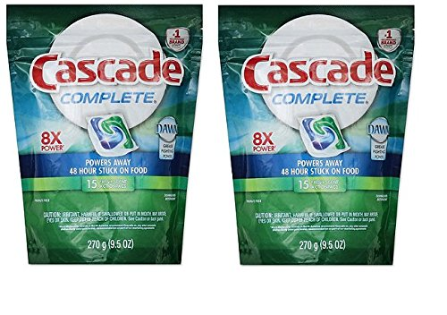 Cascade Complete All-in-1 Gel Dishwasher Detergent with Bleach Hydroclean Action, Fresh Rapids Scent