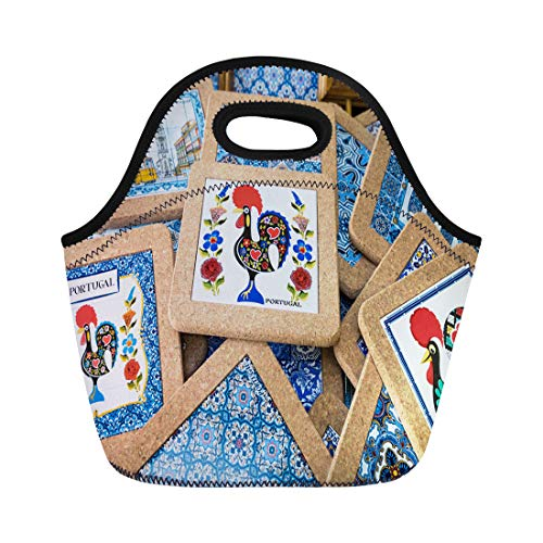 Semtomn Lunch Bags Porto Portugal January 18 Traditional Portuguese Souvenirs for Sale Neoprene Lunch Bag Lunchbox Tote Bag Portable Picnic Bag Cooler Bag