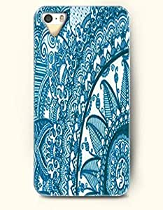 SevenArc Apple iPhone 5 5S Case Moroccan Pattern ( Turquoise and White Floral Doodle )