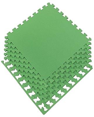 Ottomanson Multipurpose Interlocking Puzzle Eva Foam Tiles-Anti-Fatigue Mat