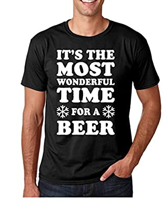 Funnwear It's The Most Wonderful Time For A Beer, Funny Parody Christmas Premium Men's T-Shirt