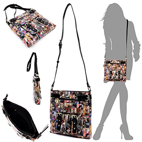 Obama Michelle clutches wallets bags cover Glossy purses 14 magazine collage crossbody Body Cross bag and wxSxzqvAnT