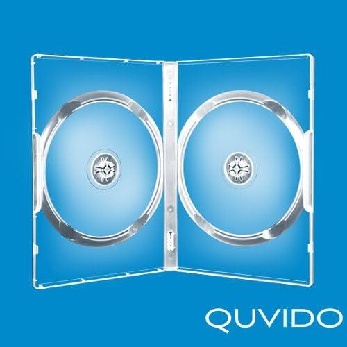 50 quvido Caja Transparente Doble 2 CDs/DVDs 14 mm: Amazon.es ...