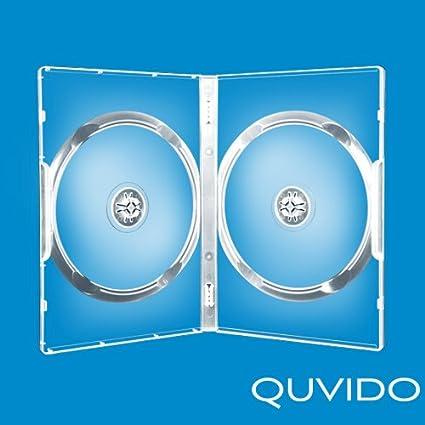 20 quvido Caja Transparente Doble CDS/DVDs 14 mm: Amazon.es: Informática