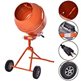 GHP 5-Cubic Feet 1/2HP Motor 23RPM Drum Rotation Electric Concrete Cement Mixer