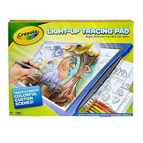 Crayola Newest Model Light Up Tracing Pad - Blue -Bright LED Power in an Ultra Thin Tablet by Crayola