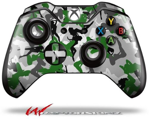 Sexy Girl Silhouette Camo Green - Decal Style Skin fits Microsoft XBOX One Wireless Controller (CONTROLLER NOT INCLUDED)