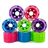Mota Toxic Hybrid Roller Derby Skate Wheels - Available in 5 different colors - Two Sizes 62x41mm & 59x38mm - Great for Indoor or Outdoor surfaces 88A Hardness - Smoke 59mm 8pk