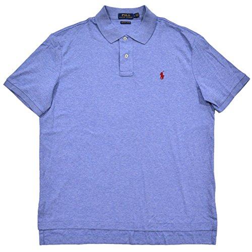 Polo Ralph Lauren Mens Soft Touch Pima Cotton Polo (L, Cobalt Heather)