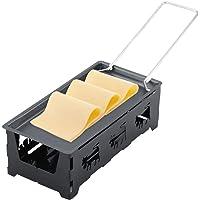 Raclette Cheese - Mini Portable Anti-Adhésif Delaman Ensemble de Poêle de Plateau de Cuisson Rotaster, Outil de Cuisson à la Maison Cuisine