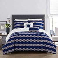 Chic Home Bethany 5 Piece Comforter Set King Blue 5 Buy Online At Best Price In Uae Amazon Ae