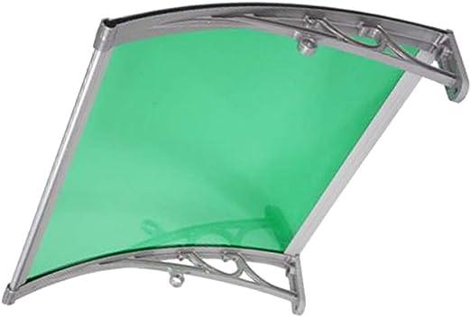 LPD Tejadillo De Protección Marquesina Jardín Al Aire Libre Dosel De Techo Policarbonato Tejadillo De Protección Exterior Marquesina Sol (Color : Green, Size : 60cmx60cm): Amazon.es: Hogar