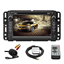 TLTek Car GPS Navigation System For GMC Yukon 2007-2014 Acadia 2007-2012 Chevrolet Tahoe 2007-2014 Buick Enclave 2008-2012 Chevrolet Suburban 2007-2014 DVD Player 7 inch Touch Screen +Backup Camera+North America Map