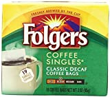 Folgers Classic Medium Roast Decaf Coffee, 19 Ct Singles Serve (Pack of 12)