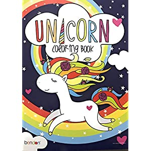 Bendon Unicorn Coloring Book (for All Ages – 48 Magical Pages to Color!)