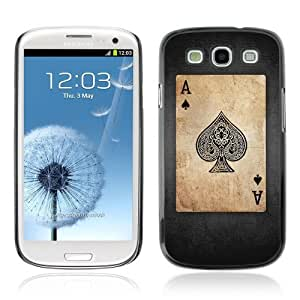 Designer Depo Hard Protection Case for Samsung Galaxy S3 / Vintage Playing Cards Ace