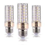 ILAMIQI E26 LED Bulbs Dimmable, 10W LED Candelabra Bulb 100 Watt Equivalent, 1200lm, Decorative Candle Base E26 Corn LED Chandelier Bulbs, Warm White 3000K Flicker Free,Tubular, Pack of 3
