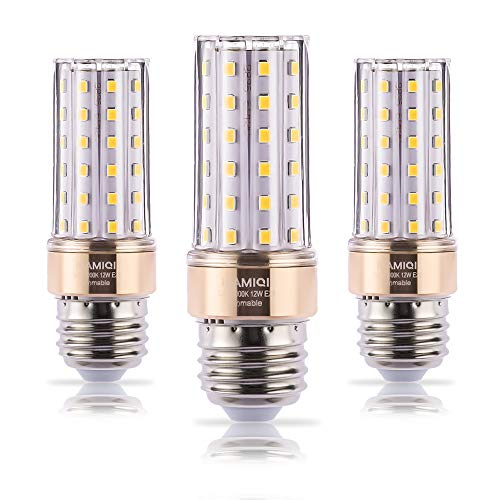 ILAMIQI E26 LED Bulbs Dimmable, 10W LED Candelabra Bulb 100 Watt Equivalent, 1200lm, Decorative Candle Base E26 Corn LED Chandelier Bulbs, Warm White 3000K Flicker Free,Tubular, Pack of 3