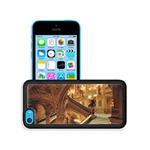 Architecture Houses France Opera Paris Apple iPhone 5C Snap Cover Premium Leather Design Back Plate Case Customized Made to Order Support Ready 5 inch (126mm) x 2 3/8 inch (61mm) x 3/8 inch (10mm) MSD iPhone_5C Professional Case Touch Accessories Graphic