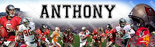 Personalized / Customized Tampa Bay Buccaneers Name Poster Wall Decor Door Birthday Art Banner ()