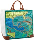 Echo Design Women's Map Of Mexico Large Square Tote, Turquoise, One Size, Bags Central