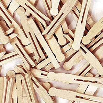 ChenilleKraft Natural Flat-Slotted Clothespins (CKC368501): Office Products
