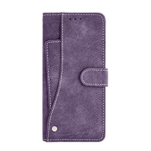 Cubix Flip Cover for OnePlus 9 Slide Out Pouch Leather Wallet Case Protective Back Cover (Purple)