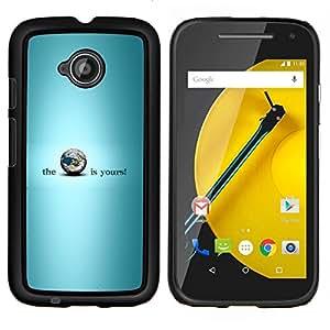 """Be-Star Único Patrón Plástico Duro Fundas Cover Cubre Hard Case Cover Para Motorola Moto E2 / E(2nd gen)( Los saluda planeta es"""" )"""