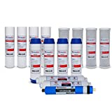 2 Year - 5 Stage Reverse Osmosis Water Filter Kit for w/ 150 GPD Membrane (15 pcs replacement set)