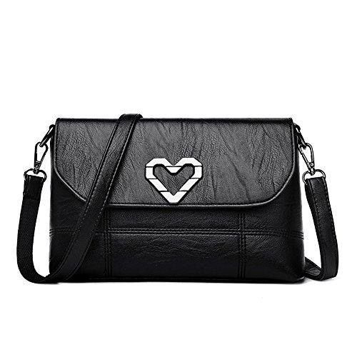 black Meaeo Messenger Un Bolso Bag Claret Paquete Nueva Único Madre Bolso Señorita Y Casual Nuevo g6q1g