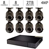 Q-See 8-Channel HD Analog DVR with 2TB HDD, 8 4MP Cameras with 100 Night Vision