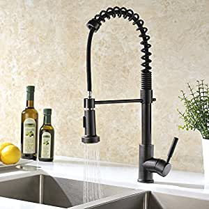 GICASA Semi-Pro Kitchen Faucet, Durable and Sturdy Pull Out Kitchen Faucet with Sprayer, Oil Rubbed Bronze Sink Faucet