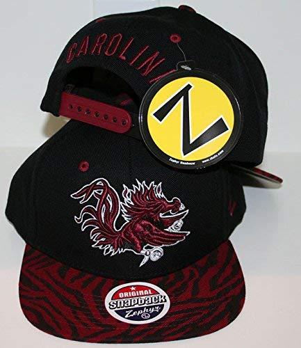 quality design d955f 2c597 Amazon.com   ZHATS University of South Carolina USC Gamecocks Black  Predator Adult Mens Baseball Flatbill Snapback Hat Cap Size Adjustable    Sports   ...