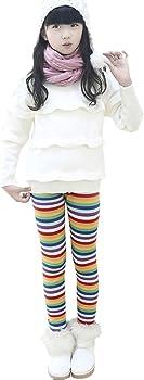 Kids Girls Winter Warm Fleece Thick Cute Rabbit Pants Thermal Leggings Trousers