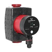 Grundfos Heizungspumpe Alpha1 25-40, energiesparende Kreiselpumpe, für die Umwälzung von Wasser in Heizungsanlagen, elektrischer und thermischer Schutz, 98460745