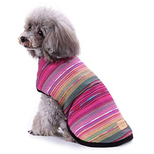 Chaoguang Cat Dog Poncho Sweater for Small Medium Larger Dogs Fleece Jacket Warm Coat Pet Apparel Costume