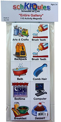 SchKIDules Activity Magnets: 114 Pc Entire Gallery (Home/School/Specials)