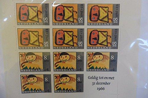 G84 Netherlands 1966 Children stamps sheet December Unused