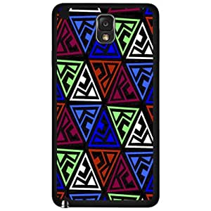 Cool Blue Red and Green Triangle Pattern Hard Snap on Phone Case (Note 3 III)
