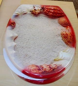 c63851cfa1eeb7 WC Sitz Sand mit Muscheln: Amazon.de: Baumarkt