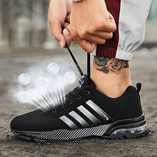 Sneakers D1012 Ginnastica Uomo Fitness nero Corsa Scarpe Casual Basse Running Sportive Da Muou Tennis wzBUqWqa6