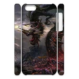 3D [Grunge] Dark Dragon Case for IPhone 5C {White}
