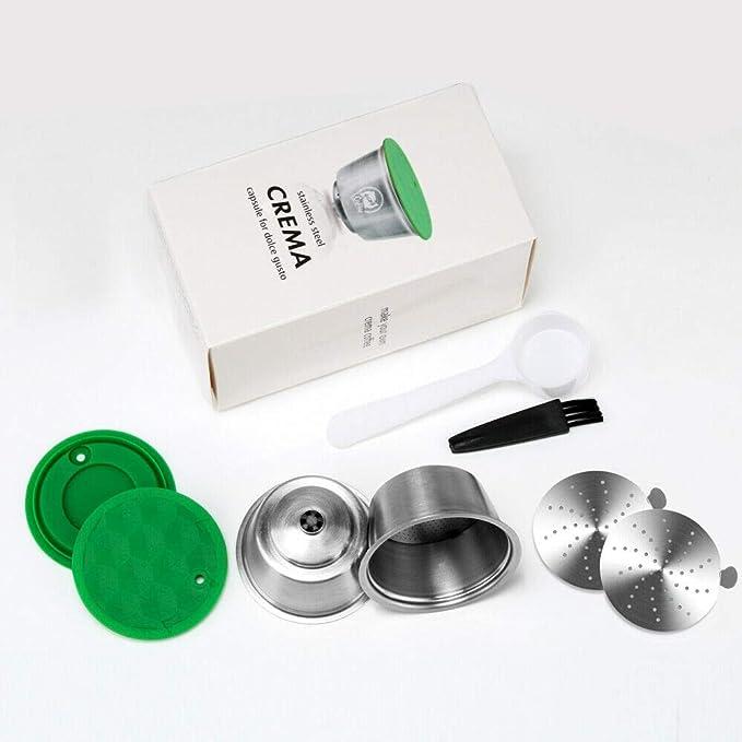cafeteras C/ápsula cuchara cepillo reutilizable c/ápsula filtro acero inoxidable compatible Dolce Gusto I Cafilas C/ápsulas recargables Dolce Gusto