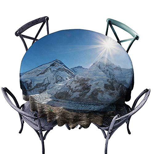 (StarsART Rectangle Table Cover ClothMorning Sun Above Mount Everest lhotse and Nuptse D65,Rectangle)